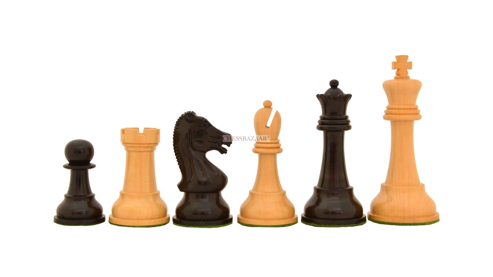 The  Reproduced Drueke Vintage  Chess Pieces in Ebony   Box Wood - 4  King R0362