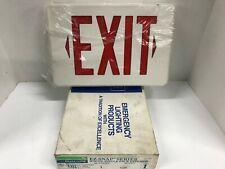 Dual Lite Ksr Emergency Exit Sign Red