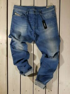 Nuovo-Diesel-Uomo-Jeans-Buster-0850j-Regular-Aderenti-Stretti-in-Basso-Blu