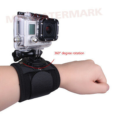Diving Housing Case Wrist Strap Band Mount 360°Rotate For GoPro Hero 1 2 3 3+ 4