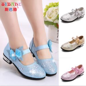 new concept 5970e 17d93 Details zu Kinder Mädchen Glitzer Party Schuhe Ballerina Hochzeit  Prinzessin Schuhe