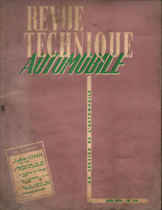Alerte Rta Revue Technique Automobile N° 122 Citroen T45 T55 1er Partie 1956