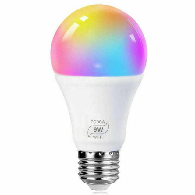 E14 Multicolor RGB LED Luces 9W=90W Equivalente 900LM L/ámpara WiFi Ahorro de Energia Smart Light Bulb Compatible con Alexa//Google Home//Smart Life Bombilla LED Inteligente WiFi 2Pcs