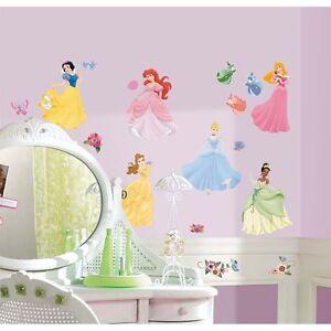 DISNEY-PRINCESS-40-BiG-Wall-Stickers-Room-Decor-Decals-CINDERELLA-ARIEL-BELLE