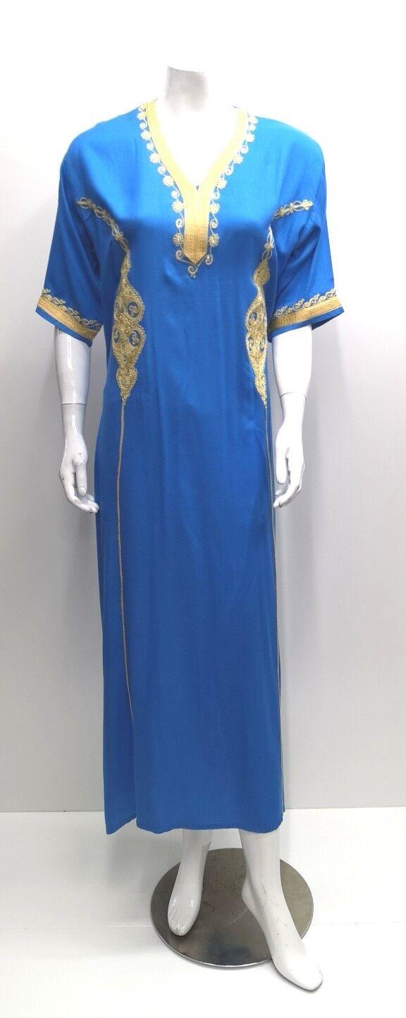 MOROCCAN women 100% rich thick cotton KAFTAN.farasha.party.beach.eid dress.52&54