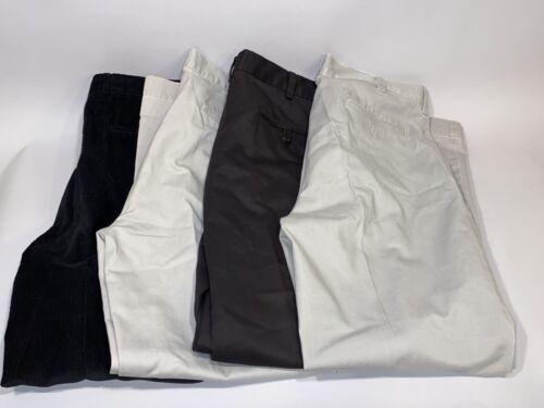 Joseph A Banks Mens Dress Pants Slacks Lot 4 Black