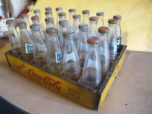 Mexican-box-Wood-Miniature-soda-Fanta-to-23-1-coca-cola-Glass-Bottle-1970