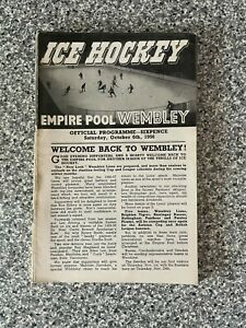 Wembley Empire Pool - Wembley Lions - Ice Hockey Programme 06/10/1956