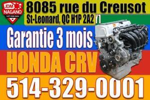 Honda Engine CRV 2007 2008 2009 2010 2011 Moteur Honda CRV K24Z1 City of Montréal Greater Montréal Preview