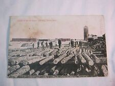 BAY DE NOQUET SAW MILL NAHMA MICH ANTIQUE POSTCARD       T*
