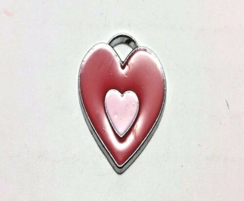 5 pieces 20x20mm Heart Alloy Charm Pendant A0779