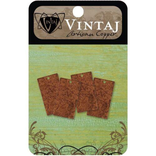 Metal Vintaj resaltar alterado espacios en blanco-rectángulos 22.5mmx12.5mm 4//pkg