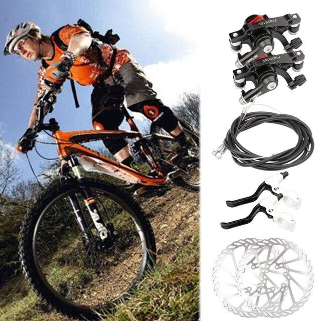 Mechanical Disc Brake Bike Cycling Bicycle Front Rear Caliper Rotors LD