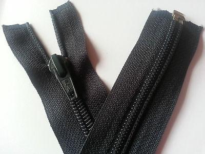 Ykk 108cm Long One Way Open Black Silver Teeth High Quality Zip Head Size 8