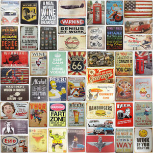 Tin Plaque Retro License Plate #AF6494 Sign Bar Pub Home Art Wall Poster