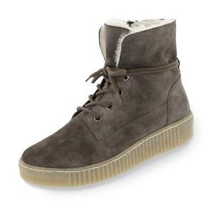 435320e23683d6 Das Bild wird geladen Gabor-Damen-Boots-Stiefel-Stiefeletten-Schnuerschuhe- Winterschuhe-warm-