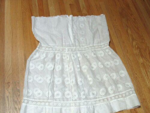 Antique Victorian White Cotton Petticoat Slip Skir
