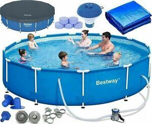 BESTWAY-Pool-20-in-1-Grenn-Pool-Frame-Pool-Schwimmbecken-Gartenpool-366-x-76-cm