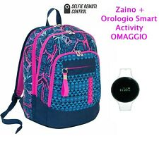 wireless selfie device OMAGGIO 2 Zaino SEVEN nero grafica fiori scuola bambina