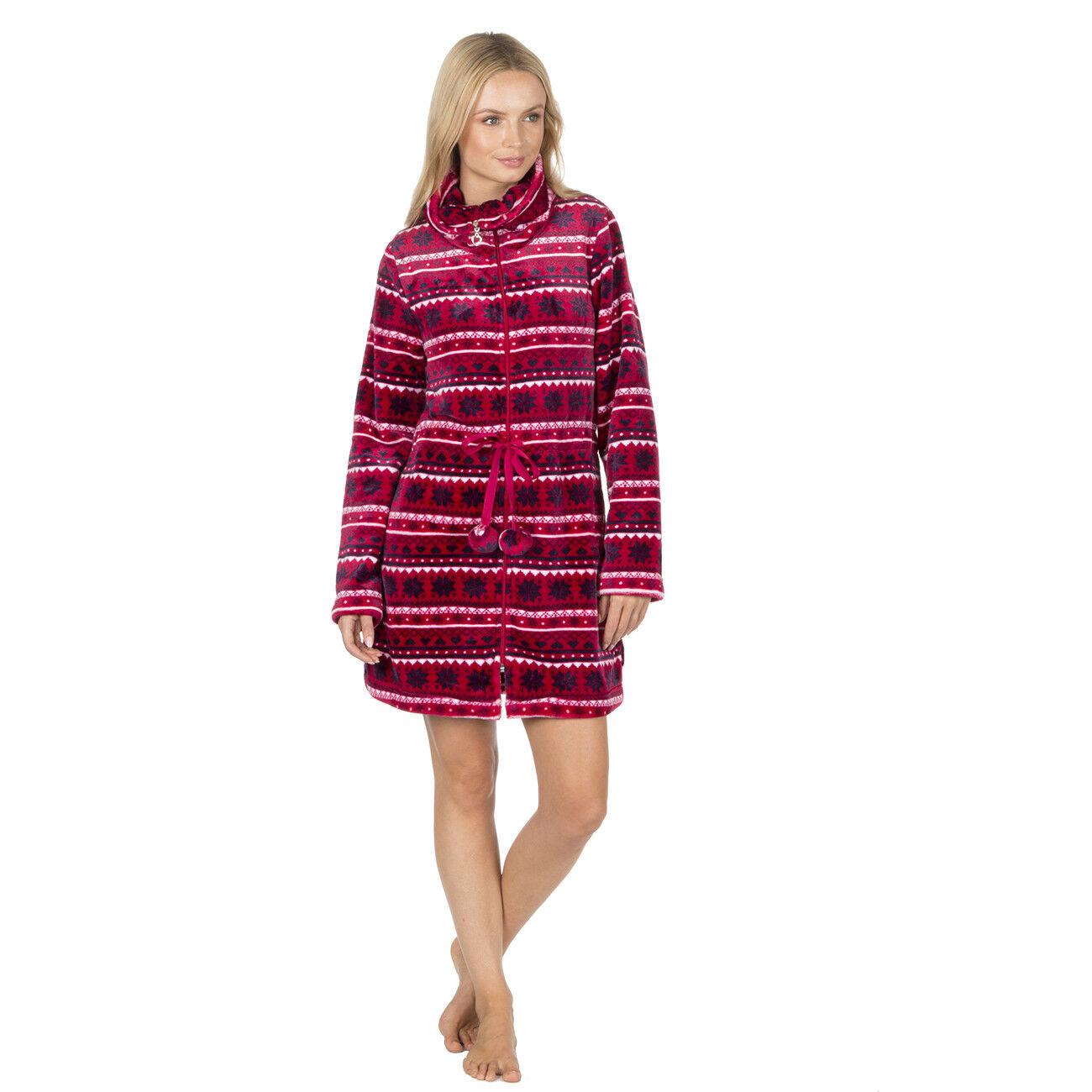 Zip Veste Polaire Hiver Front Femmes Pyjama Lit Jacquard 1TndUWaWq0