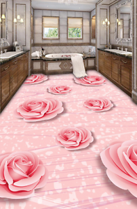 3D Comely Pink pink 748 Floor Wall Paper Murals Wall Print AJ WALLPAPER UK Lemon
