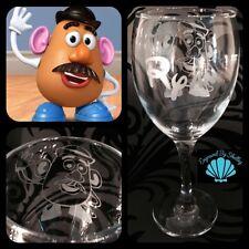Personalised Disney Toy Story Mr. Potato Head Glass Handmade Custom Gift!