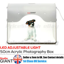 PROFESSIONAL PHOTO STUDIO KIT PORTABLE LED 50CM LIGHT BOX CUBE TENT PHOTOGRAPHY