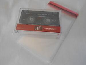 Lot 100 Pochettes De Protection Pour Cassette K7 Tape Adhésif (Boitier Arrondis)