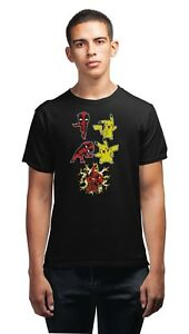 Deadpool-amp-Pickachu-Fusion-T-Shirt-Mens-Comedy-Tee-Shirt