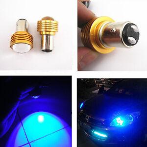 2-Pcs-1157-Blue-3W-Cree-Q5-LED-Turn-Signal-Tail-Brake-Lights-Bulb-Projector-Lens