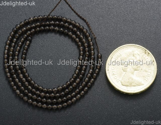 Natural Smoky Quartz Gemstone Round Beads 2mm 3mm 4mm 6mm 8mm 10mm 12mm 15.5''