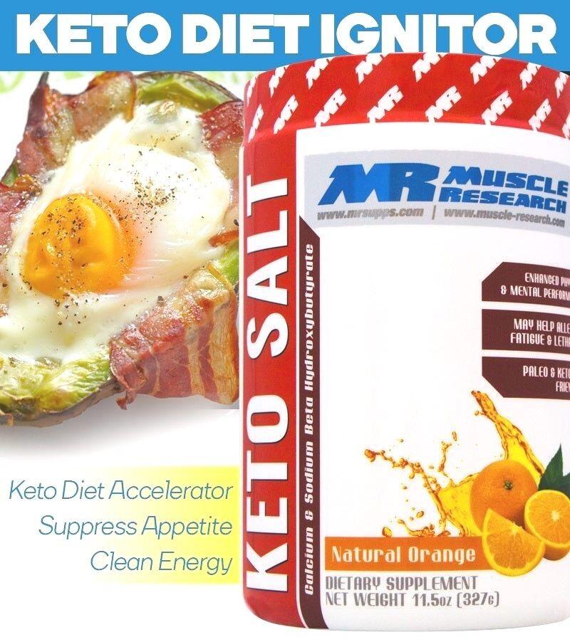 Muscle Research Keto Salz Energie, Fettverbrennung, Muskelaufbau - 20 Servings