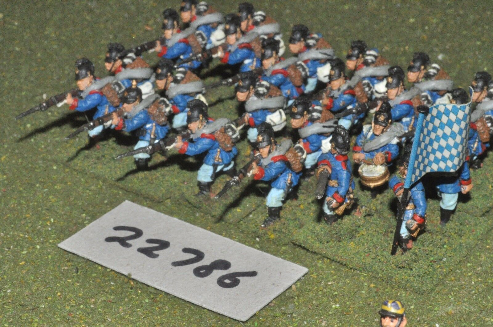 25mm colonial   bavarian - line 24 figs inf - inf (22786)