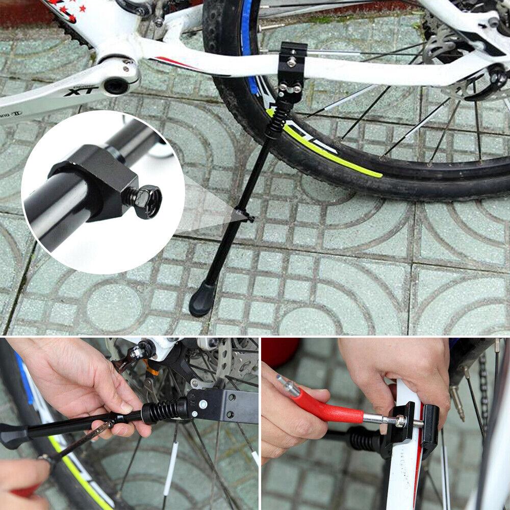 "Black//Silver HD NUVO 20/""-28/"" Bike Adjustable Kickstand Cruiser Road City BMX"