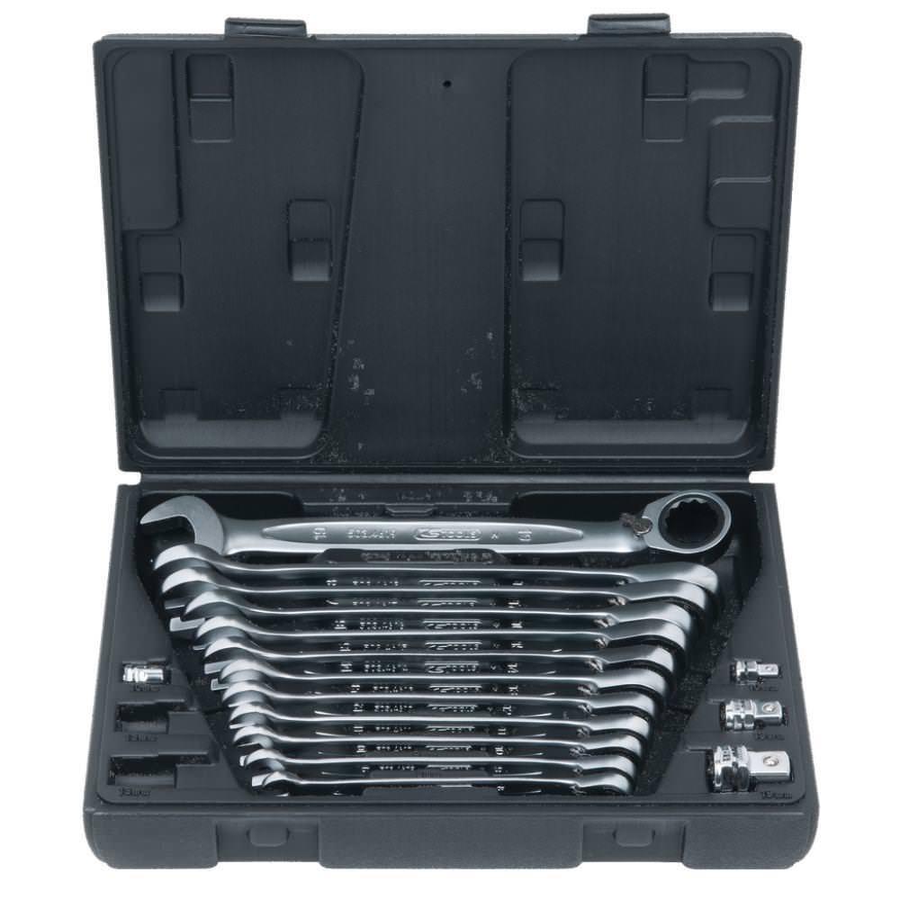 Ks_Tools GEARplus® Ratschenringmaulschlüssel-Satz 503.4666 503.4666