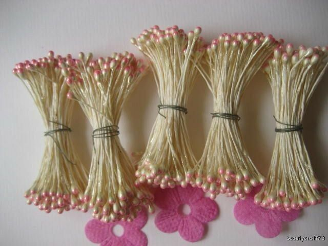200pcs Double Tip Headed Stamens Sugarcraft Floral Supplies flower decorating