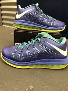 1ba3bf671f61 Nike Air Max Lebron X Low SPRITE - Size 9.5 - 579765-500 - Volt Blue ...