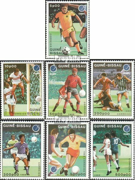 Guinea-Bissau 943-949 (complete.issue.) unmounted mint / never hinged 1988 Footb