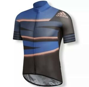 NEW adidas Adistar Cycling Jersey Tech Indigo/App Solar Red Men's ...