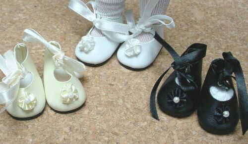 60mm BLACK German style DOLL Shoes