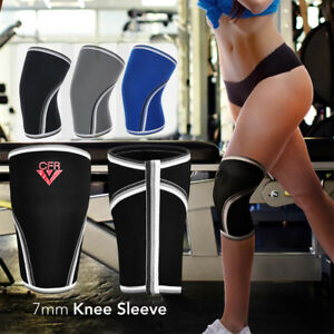 7mm-Neoprene-Knee-Sleeve-Support-Compression-Weightlifting-Powerlifting-Squats-A