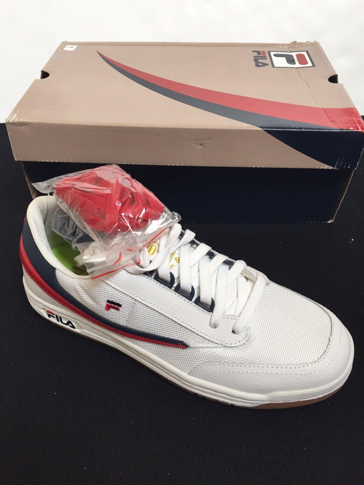 Fila Original Tennis  Uomo Size 9.5  white navy red gold 13017 167