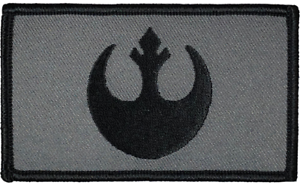 """Star Wars Rebel Tactical Hook and Loop Embroidered Gray Urban 2"""" X 3.5"""""""