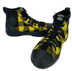 Converse-amp-Woolrich-All-Star-Wool-Sneakers-Yellow-Black-Plaid-Size-9