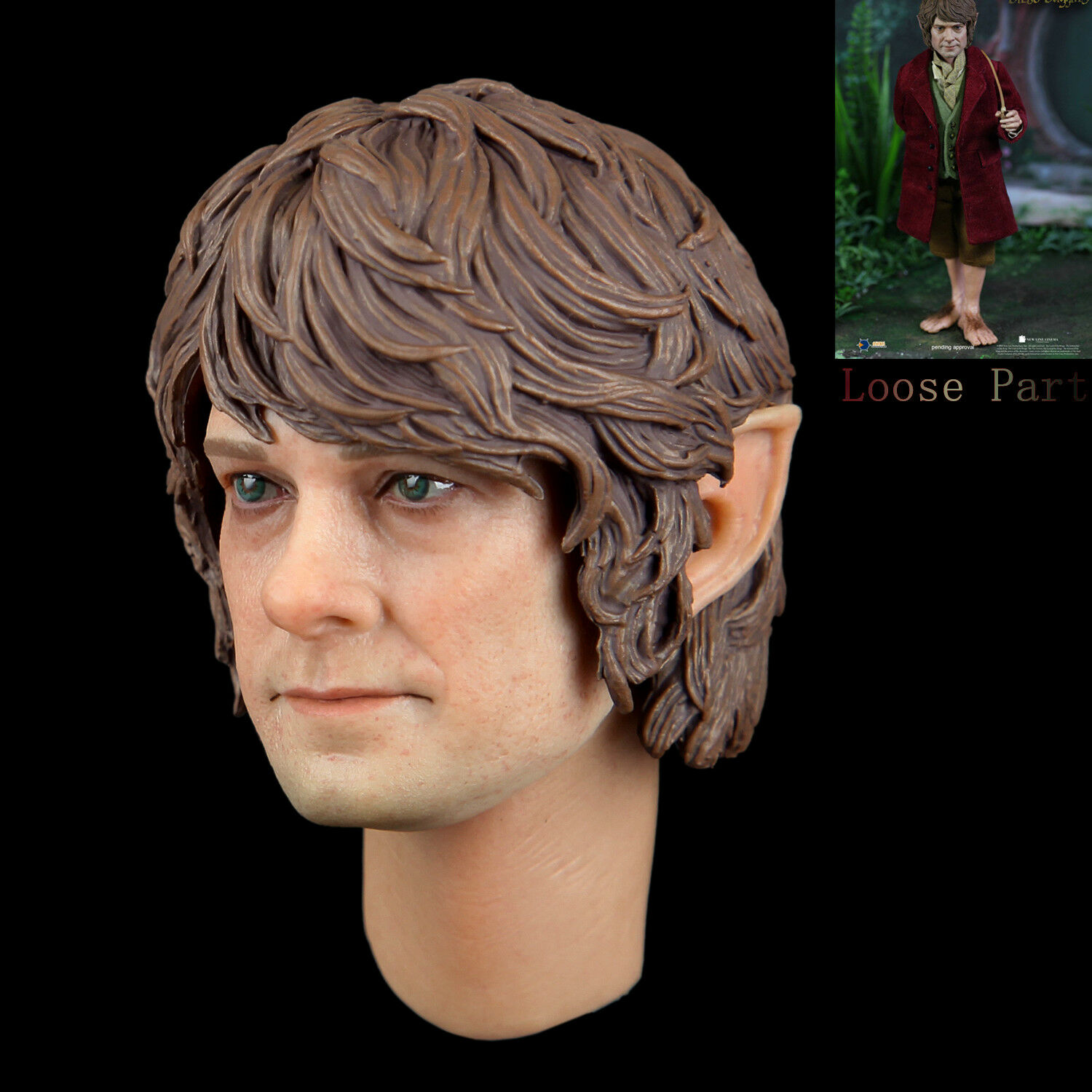 Asmus giocattoli HOBT07 1  6 The Lord of the Rings Bilbo borsagins cifra Head Sculpt  stile classico