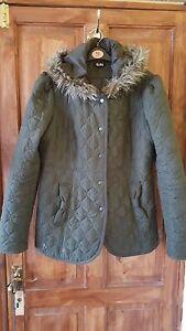 Ladies-Khaki-Quilted-Jacket-from-Asda-Size-UK-14