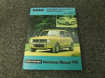 1959-1976 Mini Shop Manual Austin Morris BMC S Cooper Clubman Moke 850 Repair