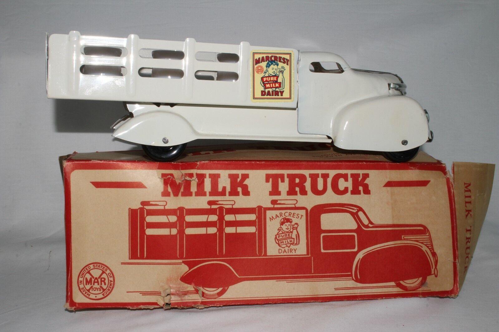 1940's Marx Milk Truck, with Original Box, Nice