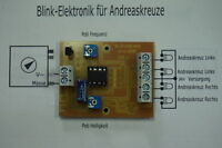 Blinkelektronik für 4 Andreaskreuze (H0)