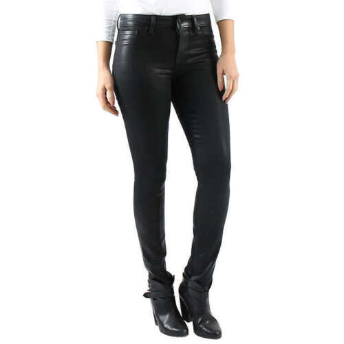SELECT SIZE Black ***NEW*** Level 99 Ladies/' Coated Skinny Jean